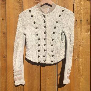 Free People Cropped Buttoned Jacket